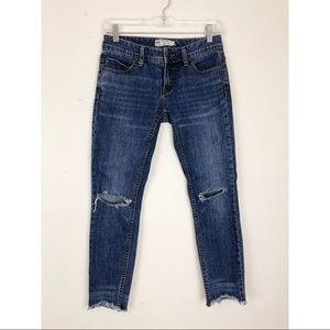 """Free People Distressed Jeans Size 25"""""""